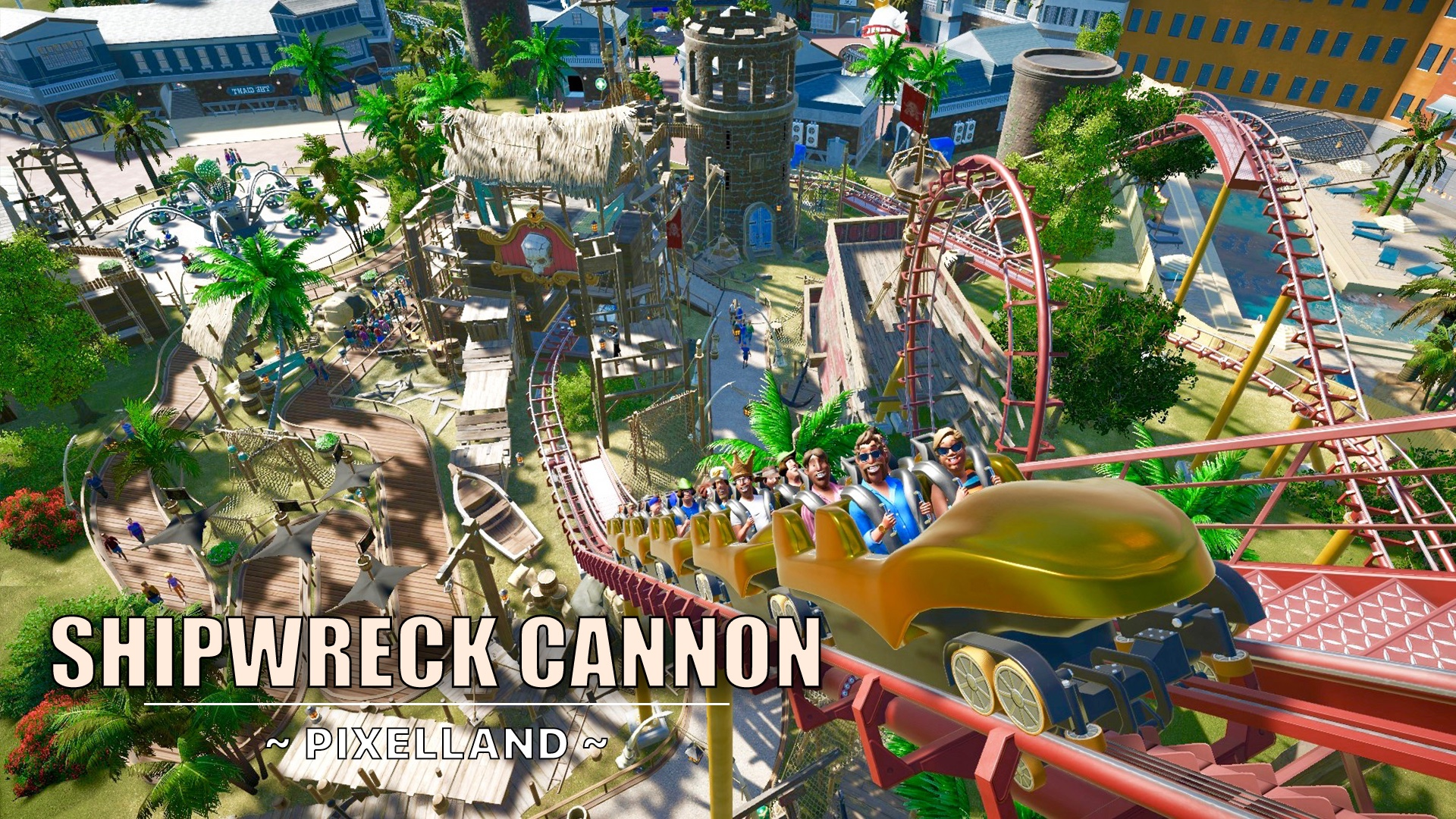 Shipwreck Cannon [Degen Steel coaster] | Planet Coaster