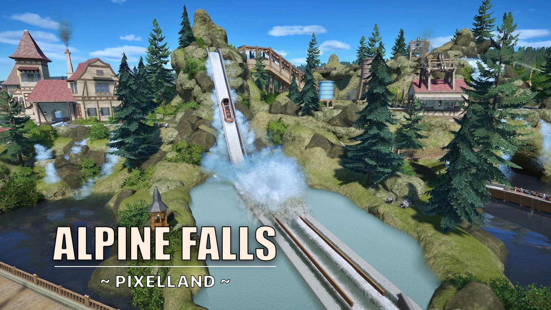 New video: Alpine Falls [Log flume]