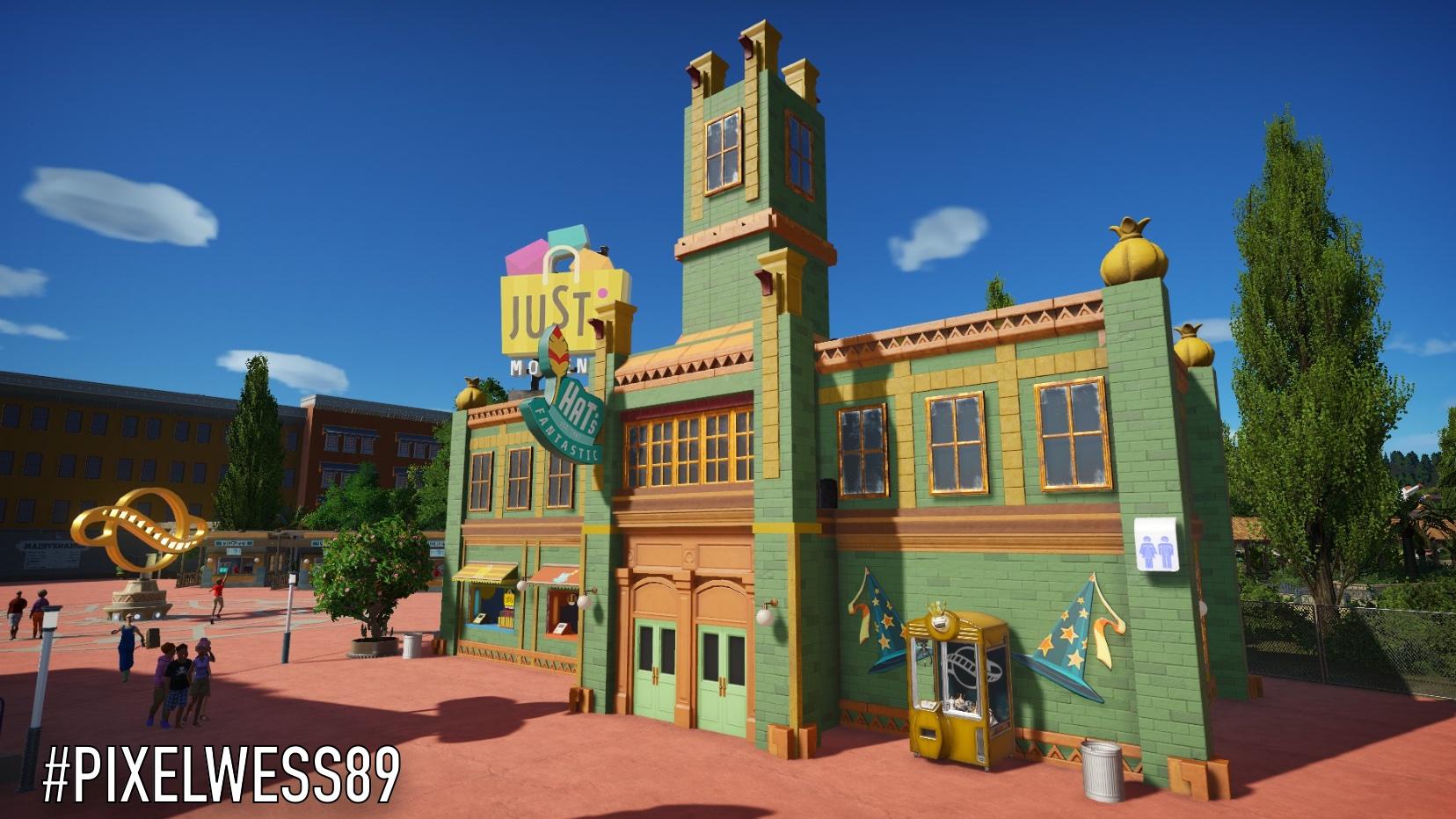 New blueprints: Gas station, Justa Shop & Foxy Restaurant