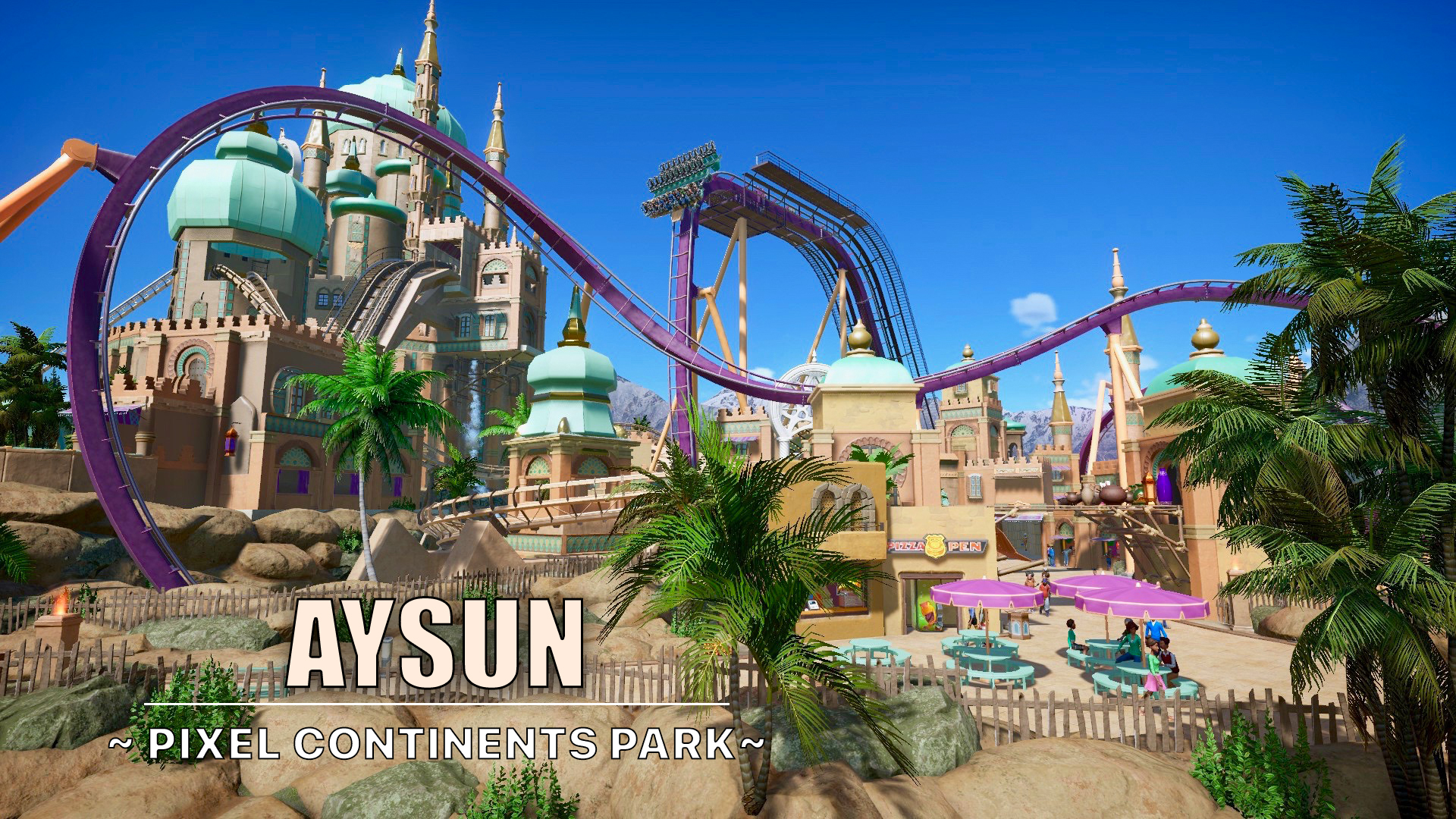 Aysun is a short dive coaster in the middle of an Arabic area.