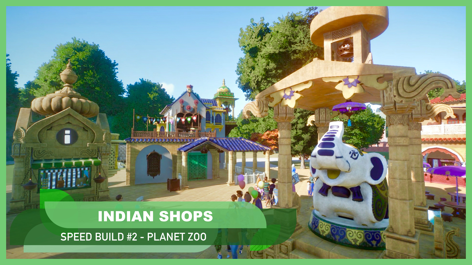 #4 Building an Indian Entrance and shops 🇮🇳🦚
