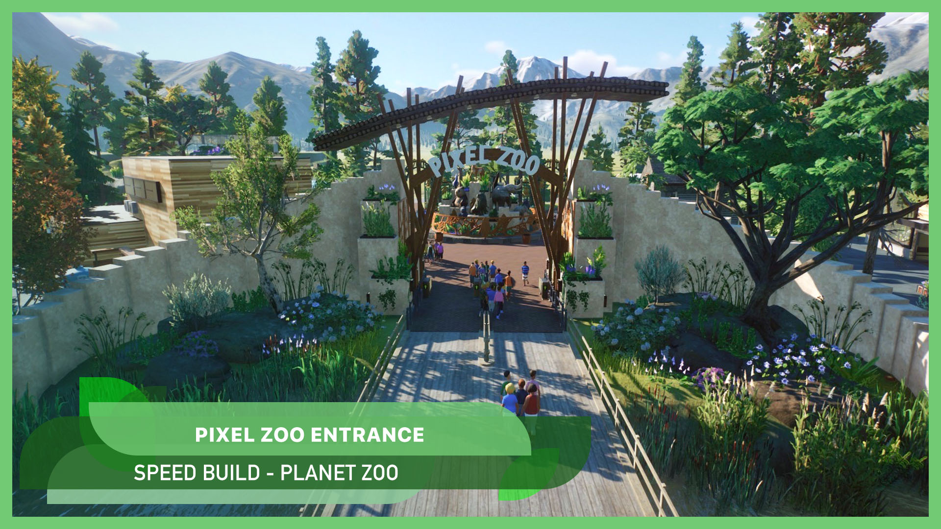 Building the zoo entrance 🦁🦧 [Pixel Zoo]